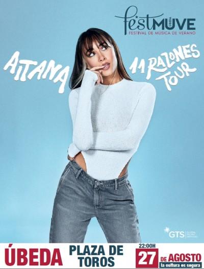 AITANA. 11 RAZONES TOUR. FESTIVAL DE MUSICA DE VERANO UBEDA 2021