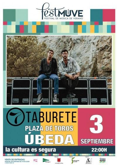 TABURETE. FESTIVAL DE MÚSICA DE VERANO DE UBEDA, 2021.